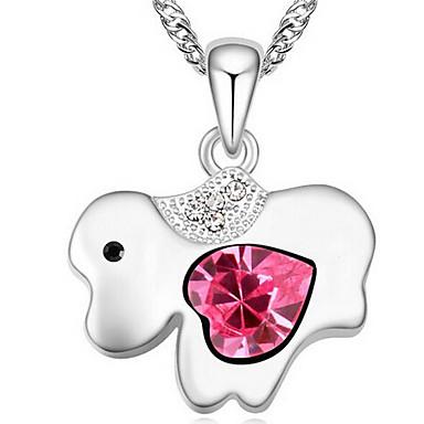 للمرأة قلائد الحلي مجوهرات Animal Shape كروم تصميم فريد تصميم الحيوانات مجوهرات من أجل هدية فضفاض