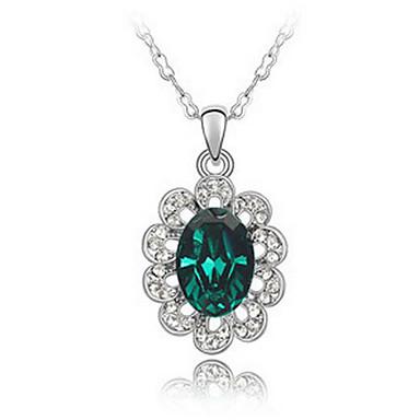 Kadın's Uçlu Kolyeler Kristal Eşsiz Tasarım Geometrik Çiçekli Moda Euramerican Mücevher Uyumluluk Düğün Parti Doğumgünü