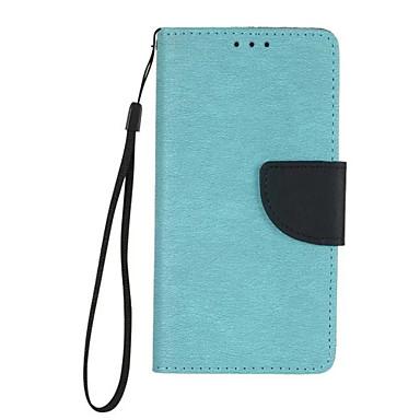 غطاء من أجل Samsung Galaxy A5(2016) A3(2016) حامل البطاقات محفظة مع حامل قلب غطاء كامل للجسم لون الصلبة قاسي جلد PU إلى A5(2016) A3(2016)