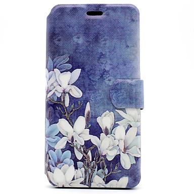 Kılıf Na Samsung Galaxy J5 (2016) J3 (2016) Etui na karty Z podpórką Flip Magnetyczne Wzór Pełne etui Kwiaty Twarde Skóra PU na J5 (2016)
