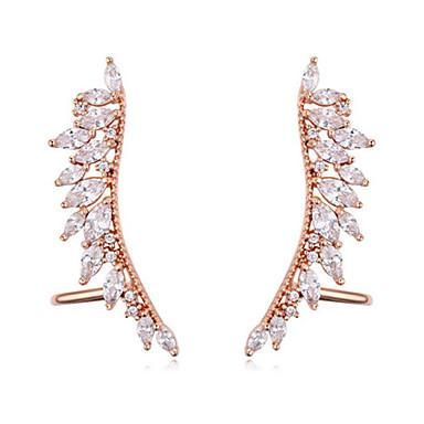 Damskie Kolczyki z klipsem Modny Cyrkon Pozłacane Geometric Shape Biżuteria Codzienny Casual