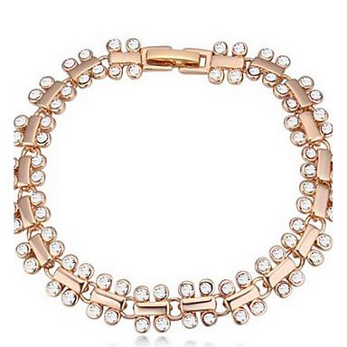 Kadın's Zincir & Halka Bileklikler Mücevher Arkadaşlık Moda Kristal alaşım Geometric Shape Mücevher Uyumluluk Parti Doğumgünü