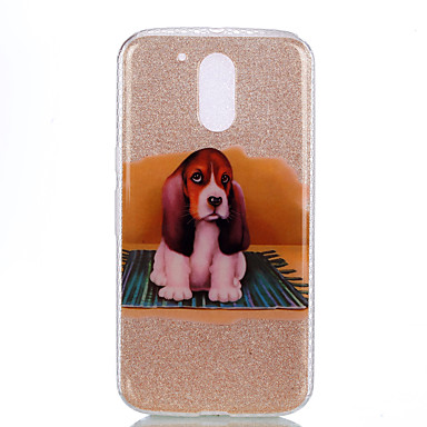 tok Για Motorola IMD Με σχέδια Πίσω Κάλυμμα Σκύλος Λάμψη γκλίτερ Μαλακή PC για MOTO G4 Moto G4 Plus