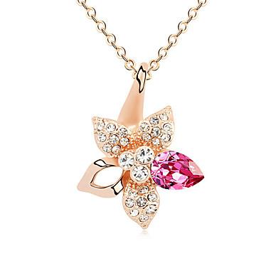 للمرأة قلائد الحلي كريستال Star Shape كروم أساسي مجوهرات من أجل حزب عيد ميلاد