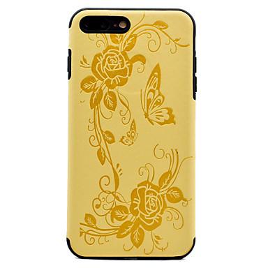 غطاء من أجل Apple نحيف جداً مطرز نموذج غطاء خلفي زهور ناعم جلد اصطناعي إلى فون 7 زائد فون 7 iPhone 6s Plus iPhone 6 Plus iPhone 6s أيفون 6