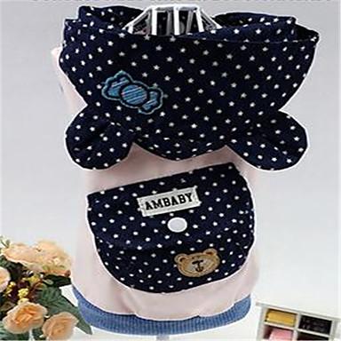 كلب سترة ملابس الكلاب جميل نجوم أزرق داكن زهري كوستيوم للحيوانات الأليفة