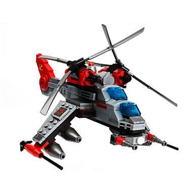 أحجار البناء هليكوبتر ألعاب دبابة المقاتل هليكوبتر العسكرية للأطفال الأطفال 277 قطع
