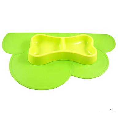 L قط كلب مغذيات حيوانات أليفة السلطانيات والتغذية المحمول قابلة للطى أصفر أحمر أخضر أزرق زهري