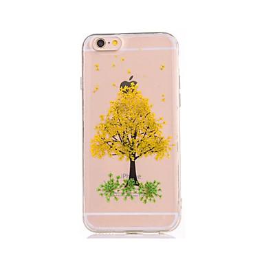 Için Kendin-Yap Pouzdro Arka Kılıf Pouzdro Ağaç Yumuşak TPU için AppleiPhone 7 Plus iPhone 7 iPhone 6s Plus iPhone 6 Plus iPhone 6s