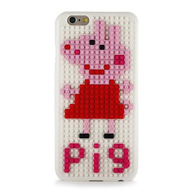 Kılıf Na Apple iPhone 7 Plus iPhone 7 Wzór DIY Czarne etui Kreskówka 3D Twarde PC na iPhone 7 Plus iPhone 7 iPhone 6s Plus iPhone 6s