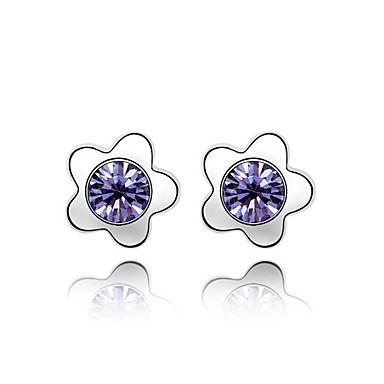 Damskie Kolczyki na sztyft Kryształ Spersonalizowane Kwiatowy Kwiat Klasyczny Kwiaty Miłość euroamerykańskiej Flower Shape Biżuteria Na