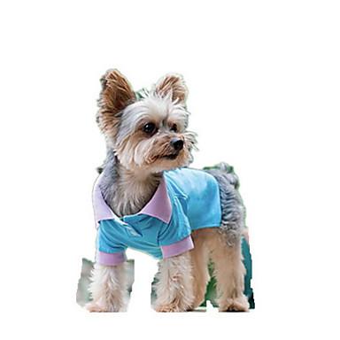 Köpek Tişört Köpek Giyimi Nefes Alabilir Sevimli Günlük/Sade Moda Tek Renk Mavi Kostüm Evcil hayvanlar için
