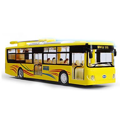 Oyuncak Arabalar Önceden Hazırlanmış ve Diecast Modelleri Otobüs Oyuncaklar Müzik ve Işık Otobüs Metal Alaşımlı Metal Parçalar Çocuk