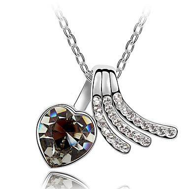 Γυναικεία Κρεμαστά Κολιέ Κρυστάλλινο Heart Shape Love Κοσμήματα Για