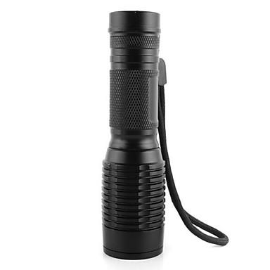LED Fenerler LED 350 lm 3 Kip LED Cree Pil ve Şarj Aleti ile Zoomable Ayarlanabilir Fokus Şarj Edilebilir Su Geçirmez Süper Hafif