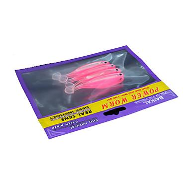 2 τεμ Atrăgătoare Pescuit Μαλακό Δόλωμα ζ / Ουγκιά mm ίντσα, Πλαστική ύλη Γενικό Ψάρεμα