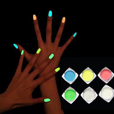 1box Glitter i Poudre Klasyczny Jarzy się w ciemności Wysoka jakość Codzienny