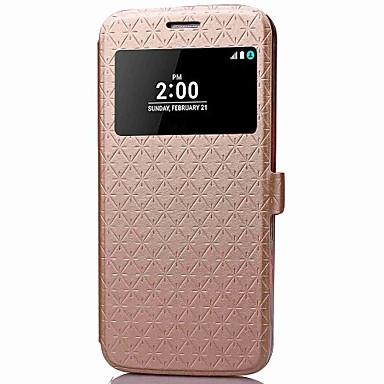 غطاء من أجل LG LG G5 حامل البطاقات محفظة مع حامل مع نافذة غطاء كامل للجسم نموذج هندسي قاسي جلد PU إلى