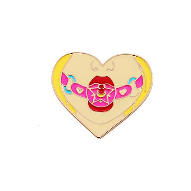 Γυναικεία Καρφίτσες Love Καρδιά Μοντέρνα Λατρευτός χαριτωμένο στυλ Εμαγιέ Κράμα Heart Shape Κοσμήματα Για Γάμου Πάρτι Ειδική Περίσταση
