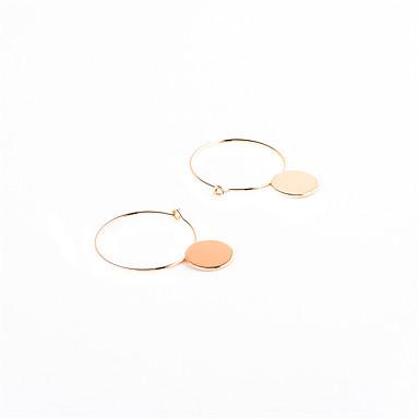 Kolczyki zwisają Biżuteria Okragły Geometryczny Okrąg Osobiste euroamerykańskiej Miedź Circle Shape Geometric Shape Gold Black Silvery