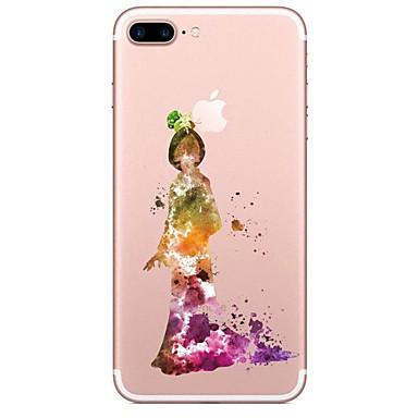Için Şeffaf Temalı Pouzdro Arka Kılıf Pouzdro Karikatür Yumuşak TPU için AppleiPhone 7 Plus iPhone 7 iPhone 6s Plus iPhone 6 Plus iPhone