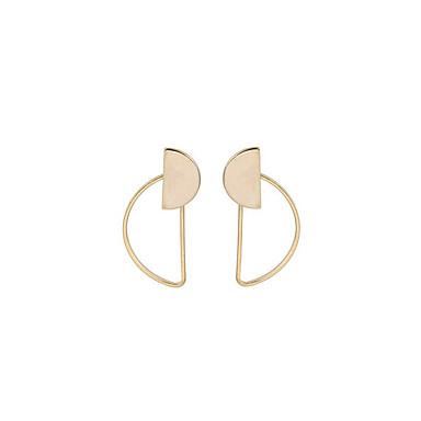 Kadın's Vidali Küpeler Mücevher Kişiselleştirilmiş Wzór geometryczny Euramerican Moda Bakır Geometric Shape Mücevher Günlük Kostüm takısı