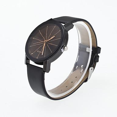 للرجال ساعة المعصم ساعة فستان ساعات فاشن ساعة رياضية كوارتز طرد كبير جلد طبيعي فرقة سحر متعدد الألوان