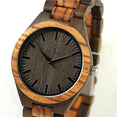 お買い得  メンズ腕時計-男性用 リストウォッチ 腕時計 ウッド 日本産 クォーツ 日本産クォーツ ウッド ベージュ クール 木製 ハンズ