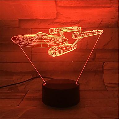 novel visuaalinen 3d johti yövalo Star Trek alus luku viileä sisustus pöytävalaisin nightlamp veilleuse enfant touch Lampen faneille