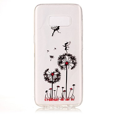 abordables Galaxy S6 Edge Etuis / Couvertures-Coque Pour Samsung Galaxy S8 Plus / S8 / S7 edge IMD / Transparente / Motif Coque Pissenlit Flexible TPU