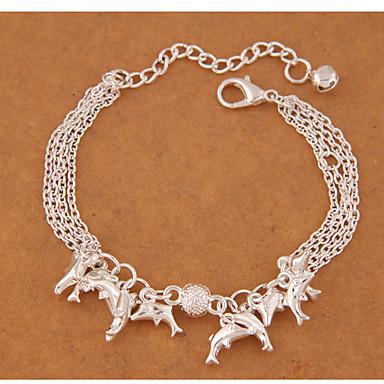 Kadın's Tılsım Bileklikler Moda alaşım Animal Shape Gümüş Mücevher Için Parti 1pc