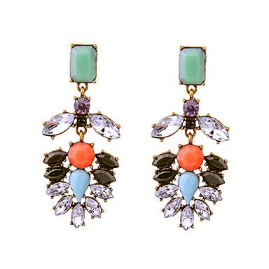 Cercei Stud Cristal La modă Personalizat Euramerican stil minimalist Alb Bijuterii Pentru Nuntă Petrecere Zi de Naștere 1 pereche