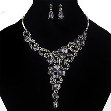 للمرأة مجموعة مجوهرات كريستال حجر الراين مخصص قديم موضة euramerican في زفاف حزب مناسبة خاصة كريستال حجر الراين سبيكة أخرى 1 زوج