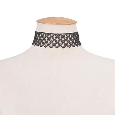 Kadın Tek Dizi Vintage Moda Euramerican İfade Takıları Avrupa Gerdanlıklar Açıklama Kolye Mücevher Dantel Gerdanlıklar Açıklama Kolye ,