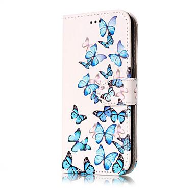 غطاء من أجل Samsung Galaxy J7 (2016) J5 (2016) حامل البطاقات محفظة مع حامل قلب نموذج غطاء كامل للجسم زهور قاسي جلد PU إلى J7 (2016) J7 J5