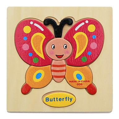 Fiszki edukacyjne Puzzle Drewniane puzzle Układanki z uchwytami Zabawka edukacyjna Animals DIY Zabawa Klasyczny Kreskówka Dla dzieci