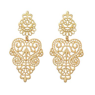 Damskie Kolczyki wiszące Biżuteria Postarzane Bohemia Style Kwiaty Stop Round Shape Biżuteria Na Impreza Codzienny Casual