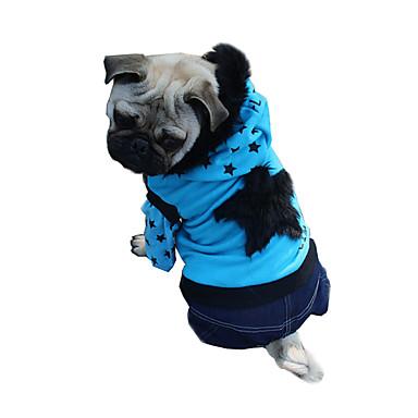 Pies Płaszcze Bluzy z kapturem Ubrania dla psów Codzienne Modny Gwiazdki Niebieski Różowy Kostium Dla zwierząt domowych
