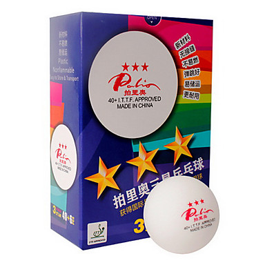 6 3 Tähteä Ping Pang/Pöytätennis Ball