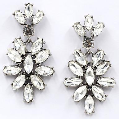 Γυναικεία Κουμπωτά Σκουλαρίκια Κρυστάλλινο Μοναδικό Φλοράλ Euramerican Κοσμήματα Για Γάμου Πάρτι Γενέθλια