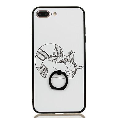 Na Uchwyt pierścieniowy Wzór Kılıf Etui na tył Kılıf Kot Twarde PC na Apple iPhone 7 Plus iPhone 7