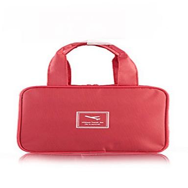 حقيبة أدوات تجميل للسفر حقيبة مستحضرات التجميل منظم أغراض السفر مقاوم للماء المحمول متعددة الوظائف تخزين السفر إلى ملابس نايلون / السفر