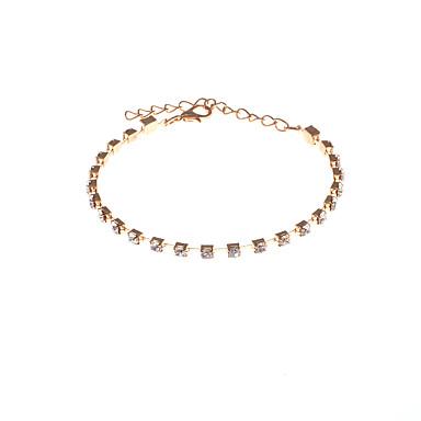 Kadın's Zincir & Halka Bileklikler Yapay Elmas Moda Yapay Elmas Circle Shape Mücevher Yılbaşı Hediyeleri Parti Özel Anlar Hediye