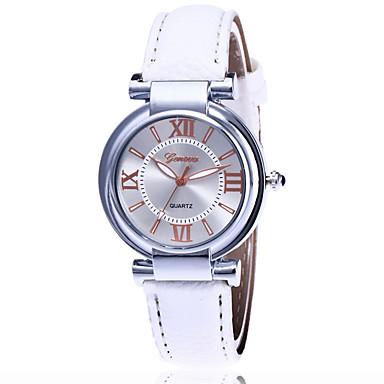 Erkek Moda Saat Bilek Saati Quartz / PU Bant Havalı Günlük Siyah Beyaz Mavi Kırmızı Kahverengi Yeşil Pembe