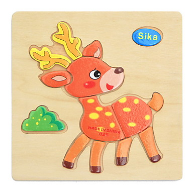 Eğitici Flaş Kartları Yapboz Ahşap Yapbozlar Yerleştirme Bulmacaları Eğitici Oyuncak Oyuncaklar Hayvanlar Kendin-Yap Çocukların Çocuklar