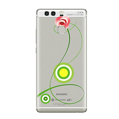 Na Przezroczyste Wzór Kılıf Etui na tył Kılıf Kwiat Miękkie TPU na HuaweiHuawei P10 Plus Huawei P10 Huawei P9 Huawei P9 Lite Huawei P9