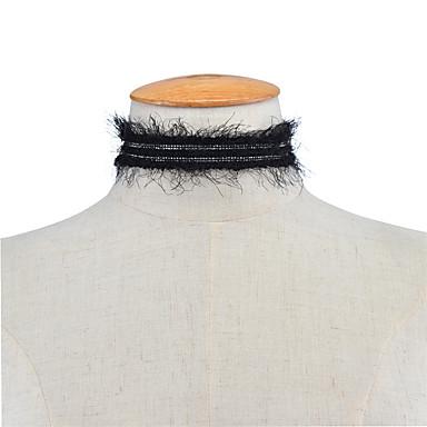 Pentru femei Șuviță unică Personalizat Modă Euramerican Coliere Choker Bijuterii Dantelă Coliere Choker . Petrecere Ocazie specială