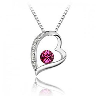 Damskie Naszyjniki z wisiorkami Kryształ Spersonalizowane Miłość Serce Modny euroamerykańskiej Biżuteria Na Ślub Impreza