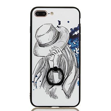 Na Uchwyt pierścieniowy Wzór Kılıf Etui na tył Kılıf Seksowna dziewczyna Twarde PC na Apple iPhone 7 Plus iPhone 7