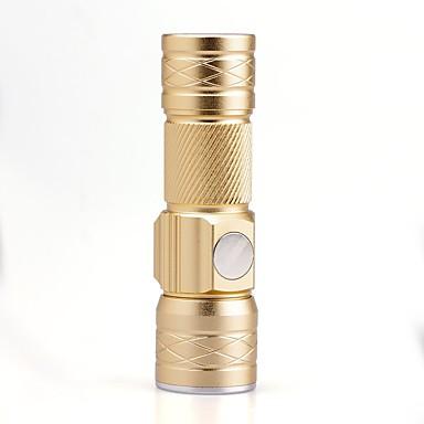 U'King LED Fenerler LED 1500 lm 3 Kip Cree XP-E R2 Zoomable Ayarlanabilir Fokus Şarj Edilebilir Kompakt Boyut Küçük Boy